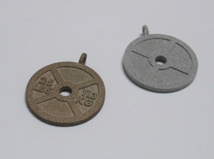 Fitness Weight Necklace 3d printed
