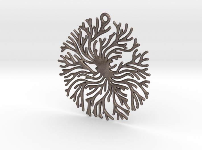 Coral Disk Pendant 3d printed