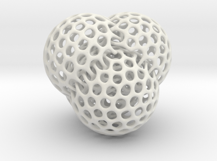 4 intersecting spheres 3d printed