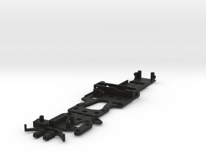 CK1 Chassis Kit for 1/32 Scale Small MagRacing Car 3d printed This is what you'll receive if ordered in black.