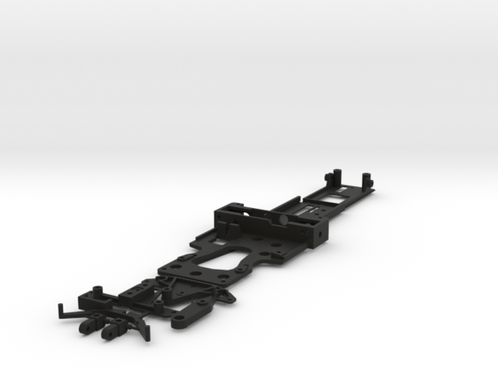 CK3 Chassis Kit for 1/32 Scale LMP MagRacing Car 3d printed This is what you'll receive if ordered in black.