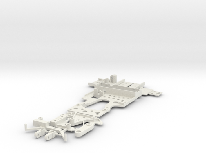 CK6 Chassis Kit for 1/32 Scale Ultra-Small Car 3d printed CK6 in white.