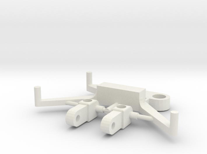 SP4 Spare Parts for CK4 Chassis Kit 3d printed White Strong & Flexible nylon plastic