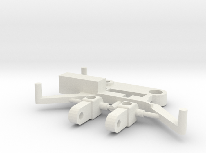 SP6 Spare Parts for CK6 Chassis Kit 3d printed White Strong & Flexible nylon plastic