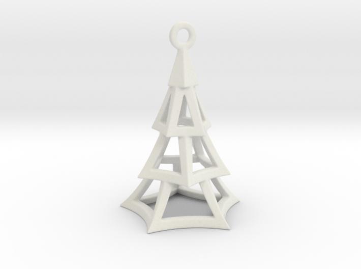 Cartoon Xmas Tree 100mm With Hanger 3d printed
