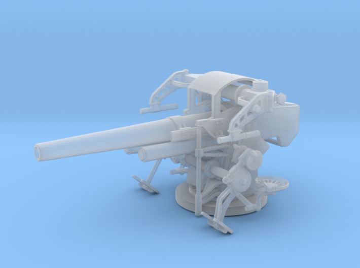 1/87 USN 5 inch 25 Cal. GUN MOUNT MARK 40 3d printed