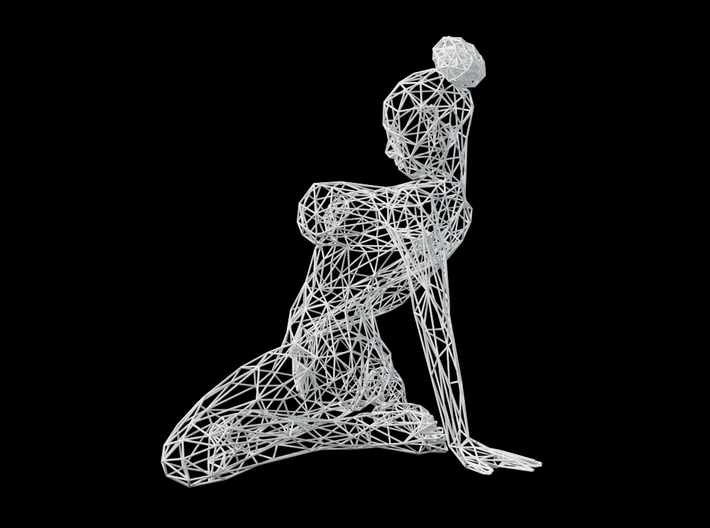 Wireframe sexy woman 3d printed