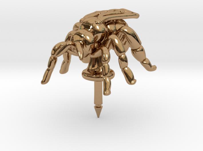 Honeybee Lapel Pin - Nature Jewelry 3d printed