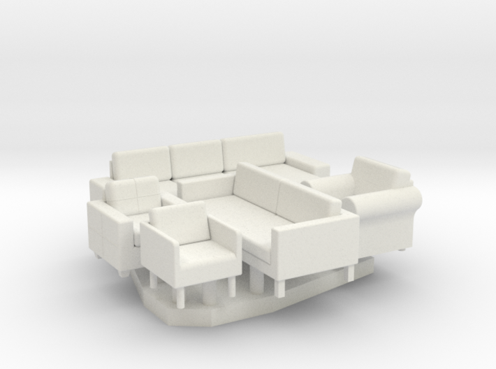 Furniture Group - HO 87:1 Scale 3d printed