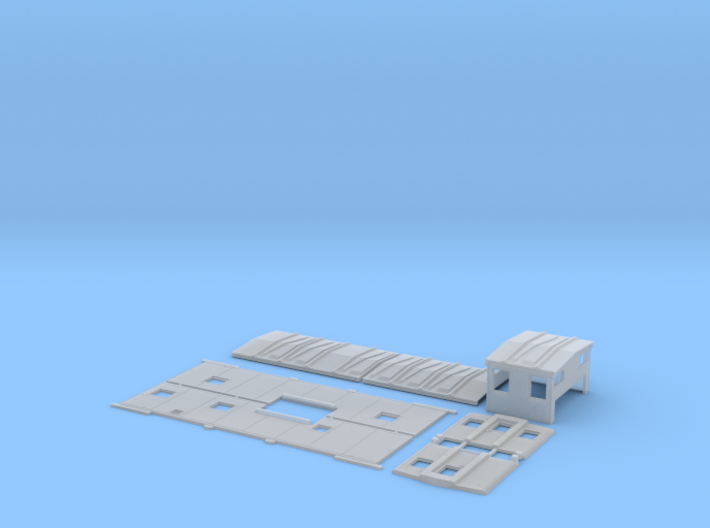 SLSF 1285-1292 Extended Vision Caboose Body Kit 3d printed