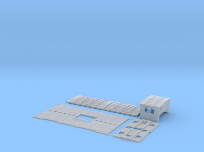 SOO 36-45 Caboose Body Kit, Blank Sides, New Doors 3d printed