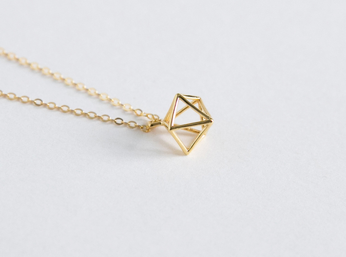 Geometric Necklace #S 3d printed