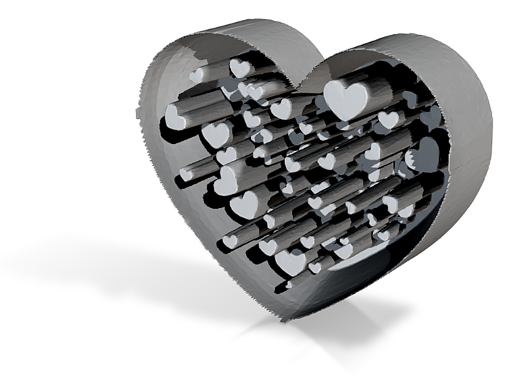 Playing with hearts 3d printed
