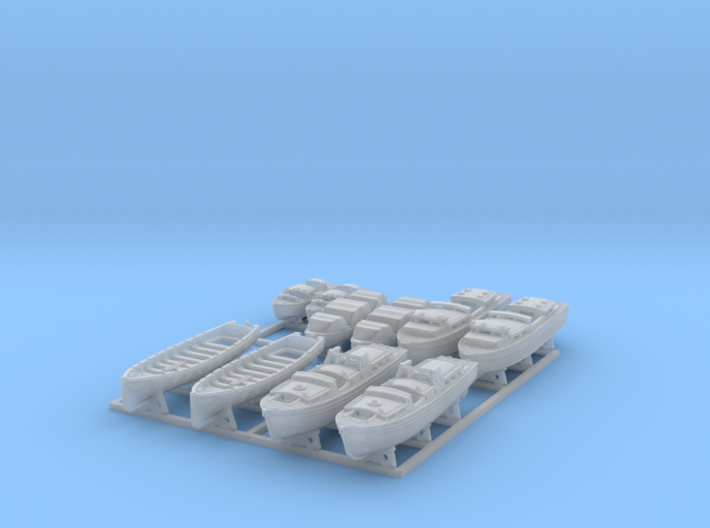 1/600 WW2 RN Boat Set 3 with Mounts 3d printed 1/600 Scale WW2 RN Boat Set 3 with Mounts