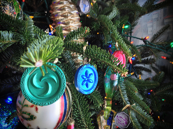 Sage Medallions 3d printed You can even make them ornaments!