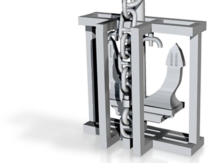 Anchor Danforth w/swivel chain 3d printed
