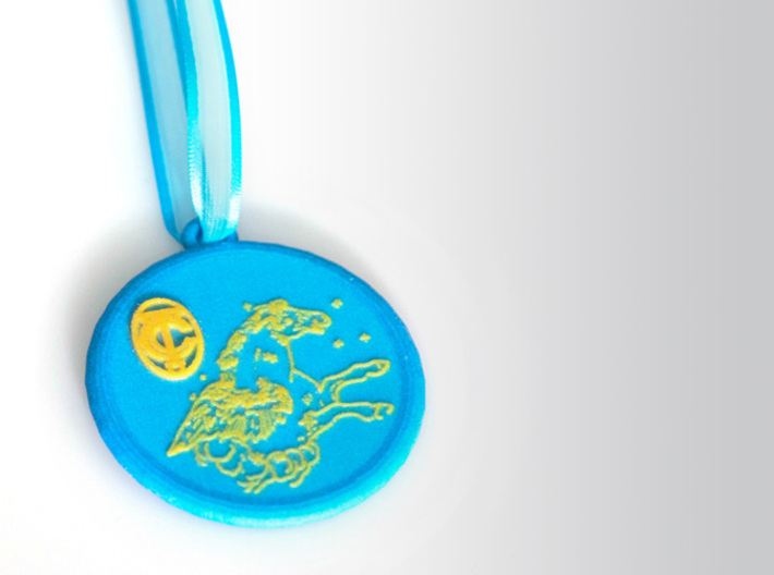 Constellation Pegasus - GCT 3d printed Ornament with a ribbon for hanging.