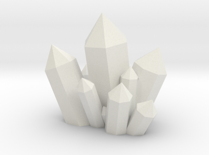 Crystal Cluster Style #1 (28mm Scale) 3d printed