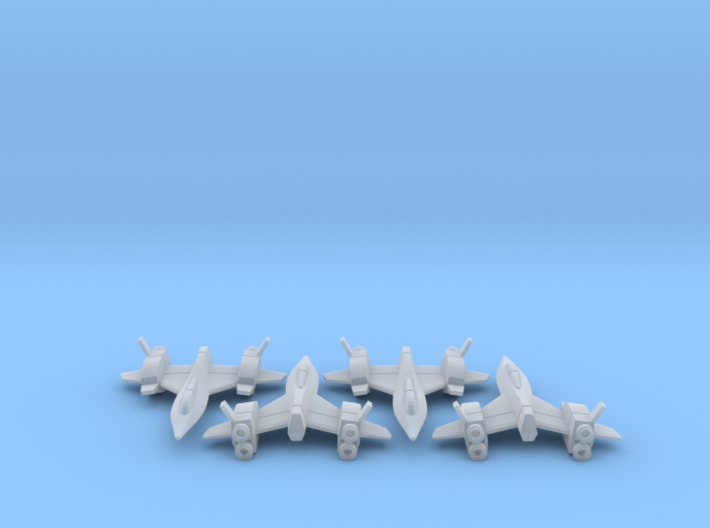 Space Fighter Type-A, 4-Pack 3d printed