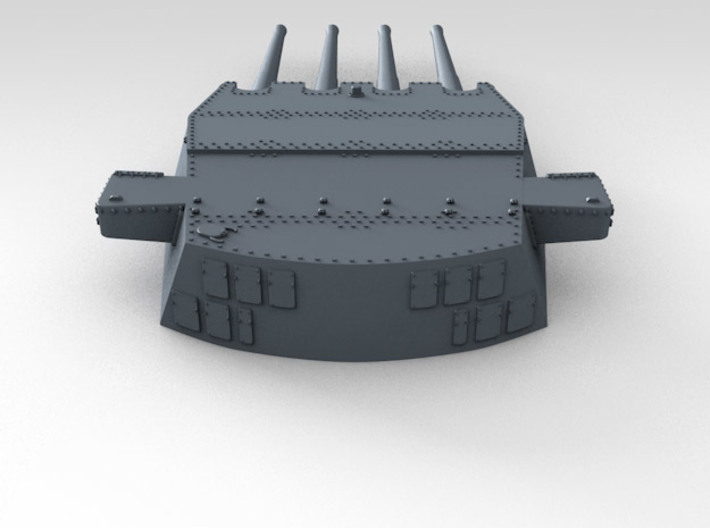 "1/570 HMS Prince of Wales 14"" Turrets 1941 3d printed 3d render showing product detail (A Turret)"