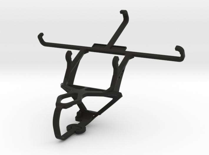 PS3 controller & QMobile Noir LT250 - Front Rider 3d printed