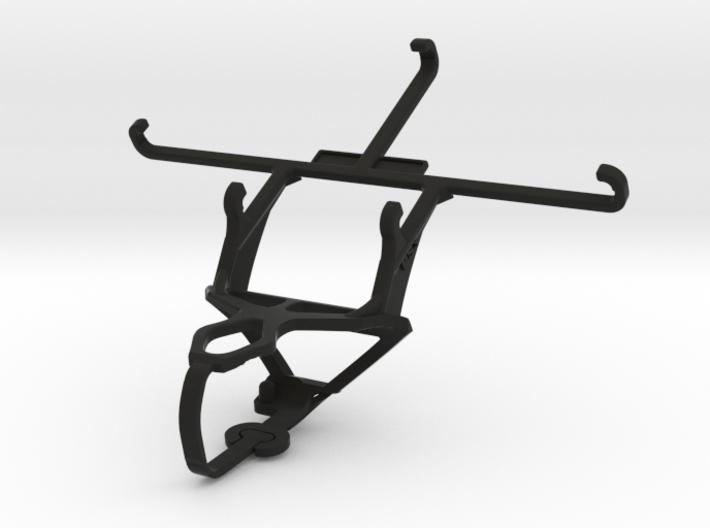 PS3 controller & QMobile Noir LT600 - Front Rider 3d printed
