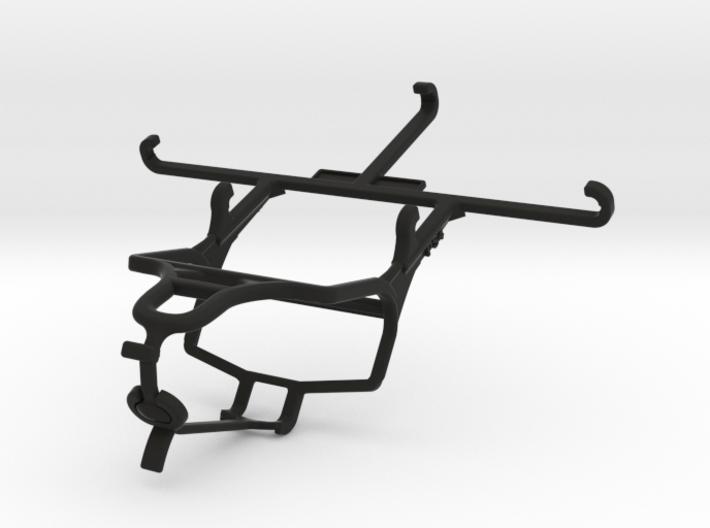 PS4 controller & QMobile Noir X950 - Front Rider 3d printed