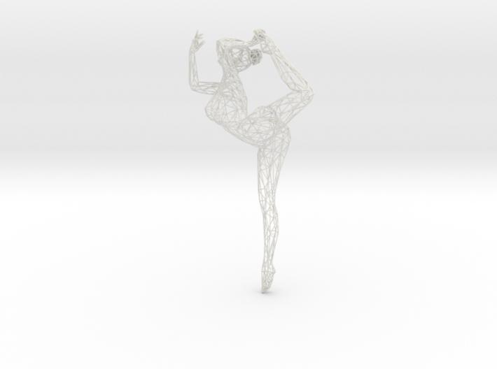 Wireframe Dancer Girl 003 3d printed