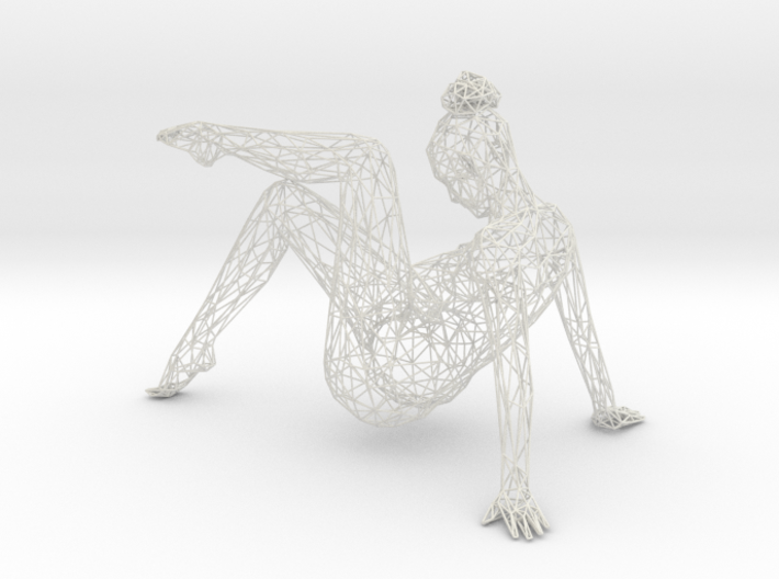 Wireframe Dancer Girl 004 3d printed