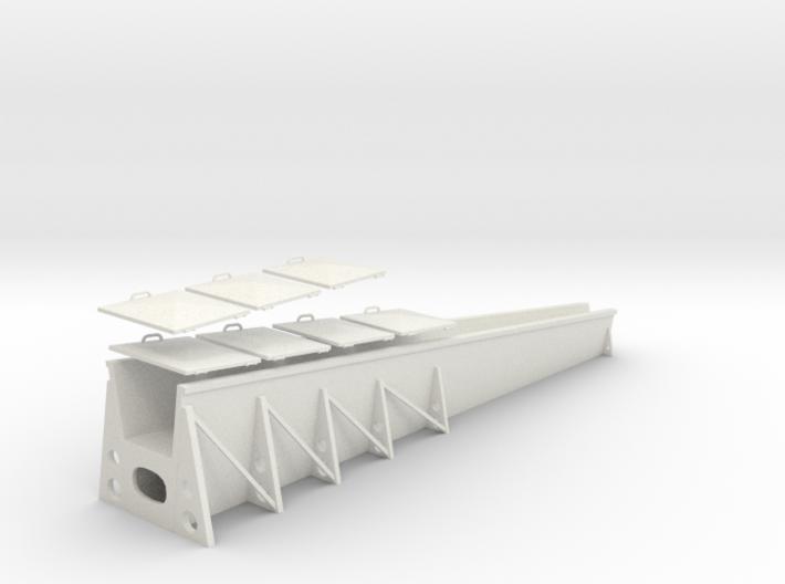 1/48 Deck Box for IJN Aircraft Crane Kit 3d printed