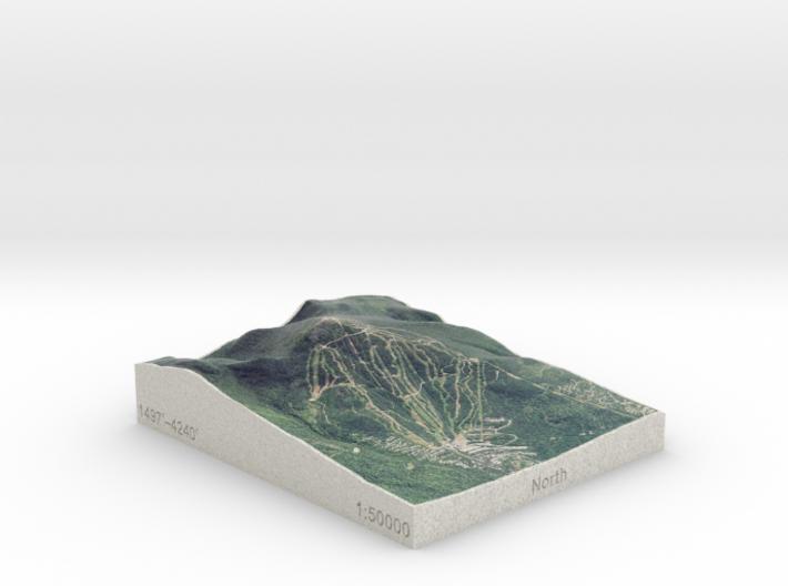 Sugarloaf Mtn, Maine, USA, 1:50000 3d printed