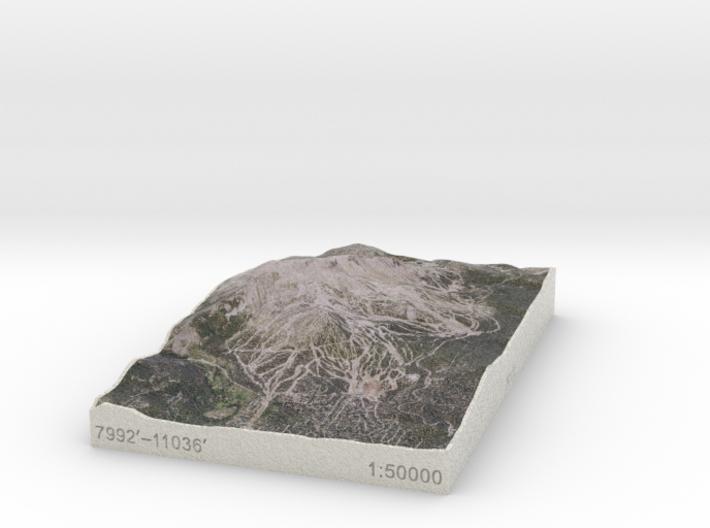 Mammoth Mtn, California, USA, 1:50000 3d printed