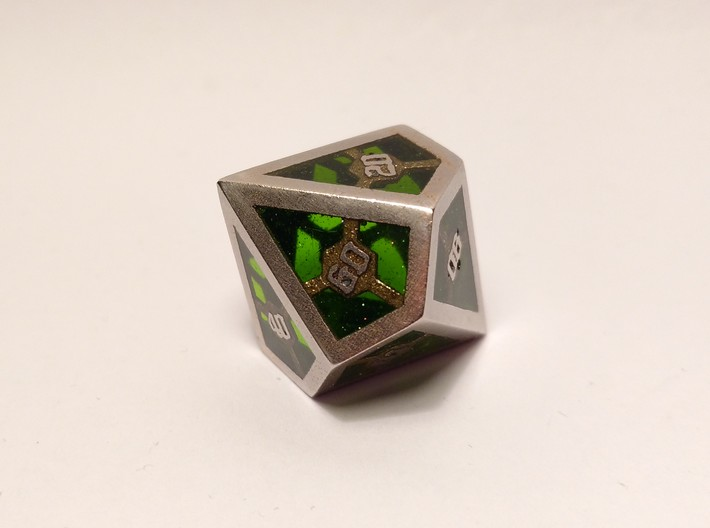 D10 Decader Epoxy Dice 3d printed Epoxy is not printed and has to be added later on by the customer