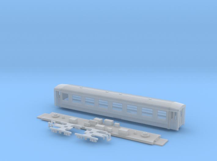 Passenger car type A-1L refit w/bogie 3d printed