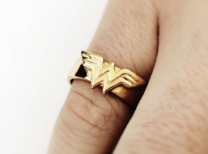 Wonder Woman ring - Bottle Opener band or regular 3d printed