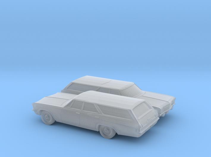 1/160 2X 1965 Chevrolet BelAir Station Wagon 3d printed