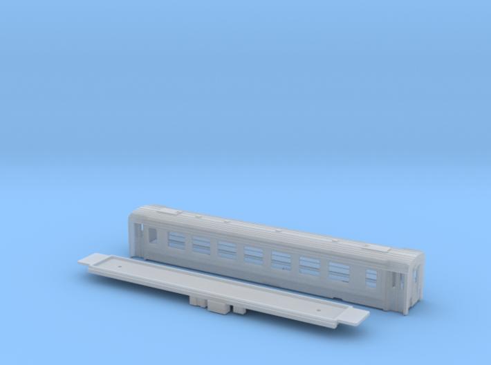 Passenger car type B-2L w/bogie 3d printed
