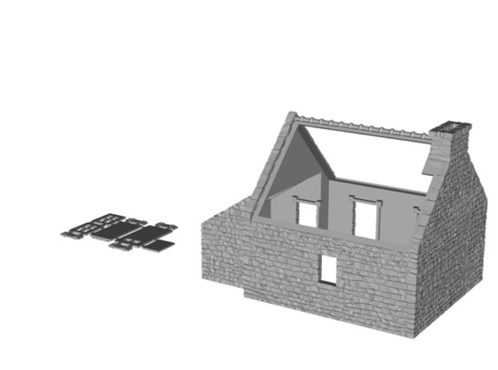 HOvMb04 - Brittany village 3d printed