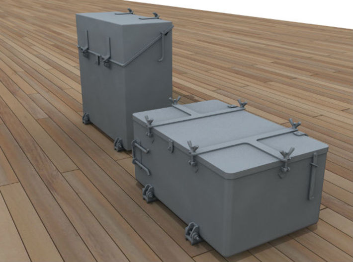 1/48 IJN Ammo Box 25mm Triple Set 10 Units 3d printed
