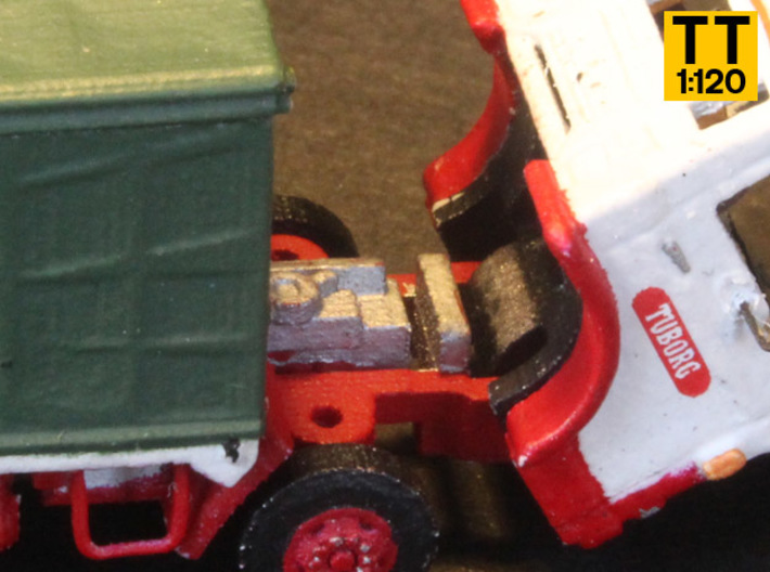 Ford D series Brewery truck TT scale (parasol) 3d printed