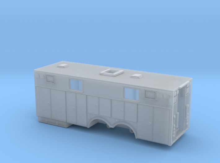 1/87 Heavy Rescue body non-rollup doors and window 3d printed