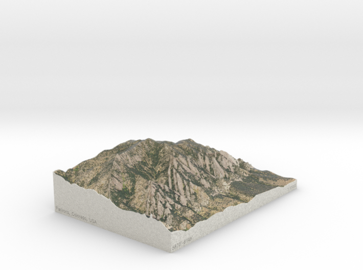 Flatirons, Colorado, USA, 1:10000 3d printed