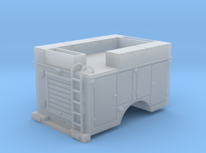 Pickup Rescue Truck 1-87 HO Scale 3d printed