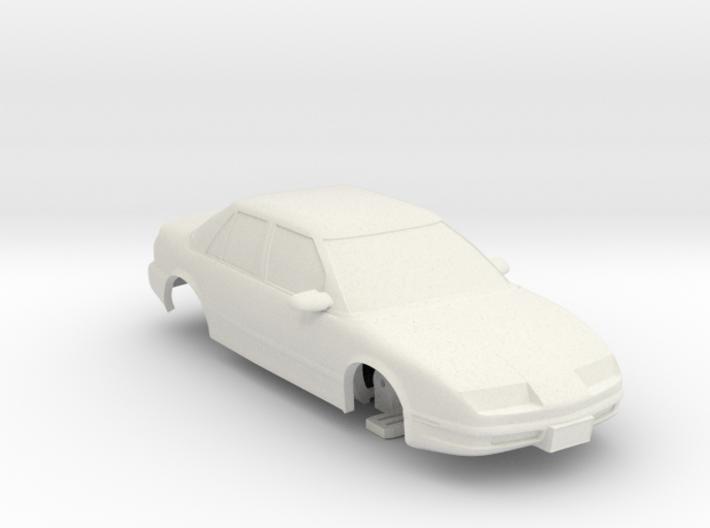 HO Slot Car 1992 Saturn SL2 - unibody chassis 3d printed