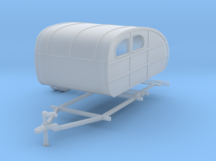 1935 Tear Drop Camper Ready For Shapeways 3d printed