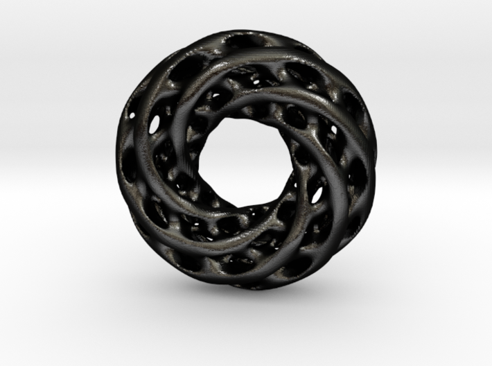 0608 IsoSurface F(x,y,z)=0 Diamond Tori [6] d=5cm 3d printed