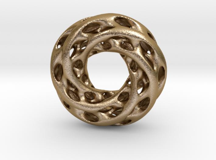 0611 IsoSurface F(x,y,z)=0 Diamond Tori [5] d=5cm 3d printed