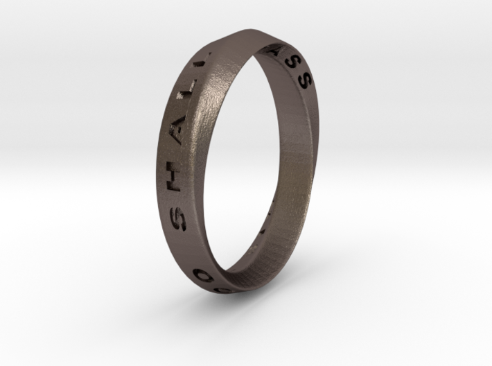 This Too Shall Pass Ring mobius ring v1 3d printed