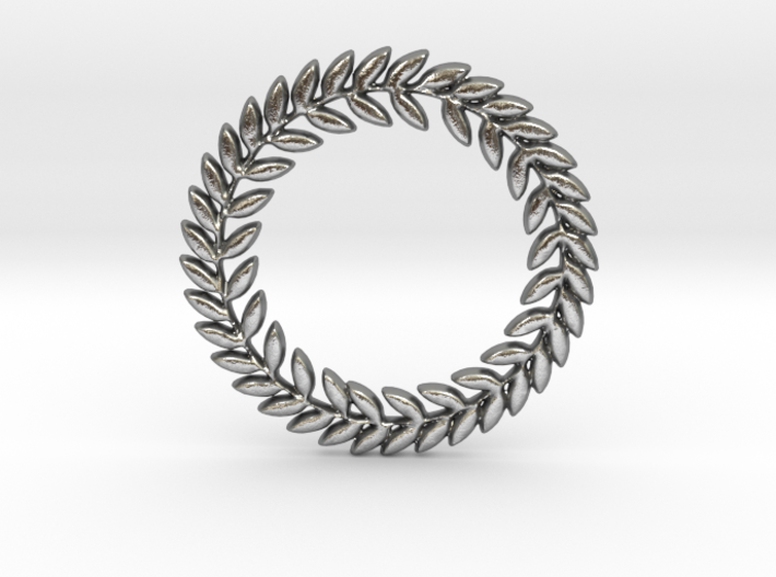 Laurel Pendant 3d printed Laurel pendant in silver