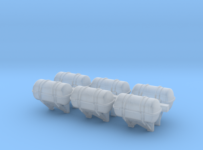 1:200 scale LifeBoat Canister - Wall 3d printed